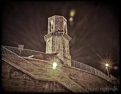 Saint-Laurent tower @night