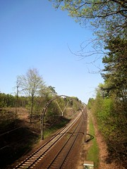 Spoorlijn bij Hilversum