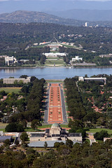 Parliament Houses from Mt Ainslie
