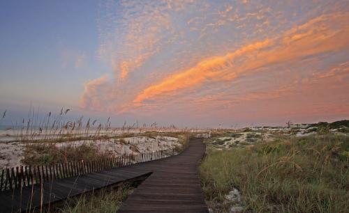 beach gulfofmexico clouds sunrise florida dunes seaoats southwalton watersound