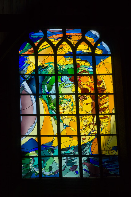Modern stained glass window flickr photo sharing for Contemporary stained glass