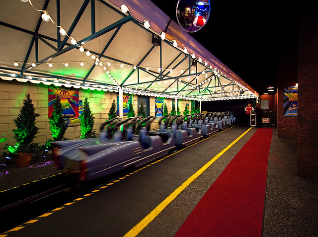 perhaps the coolest roller coaster unload area in the