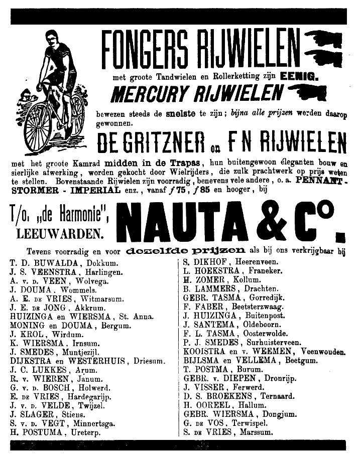 Fongers / Mercury / De Gritzner / FN bicycles - Nauta & Co Leeuwarden