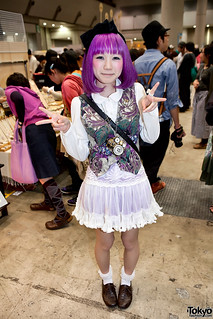 Cute Purple Hair Girl at Design Festa