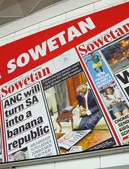 Sowetan (ANC will turn SA into a banana republic)