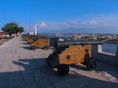 A batery of cannons at La Cabana Fortress | Batería de cañones en La Cabaña, La Habana, Cuba