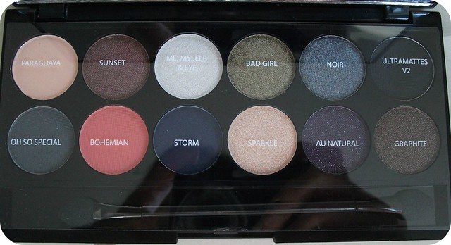 Sleek Showstoppers Palette Shade Names