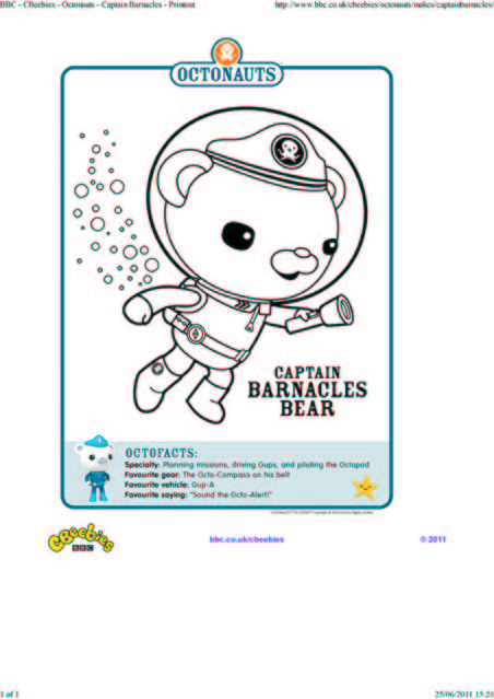 octonauts coloring pages bbc - photo#9