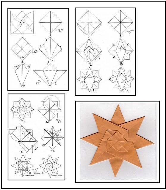 Decoracion Origami Bogota ~ Estrella Octagonal  Flickr  Photo Sharing!