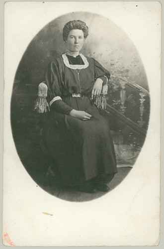 Woman with Fringed Chair