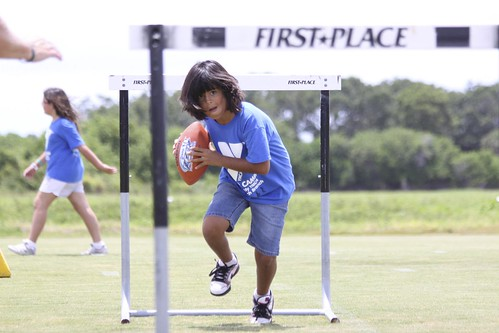 NFL rookies teach local kids from the YMCA at the 2011 NFLPA Rookie Seminar at IMG Academies
