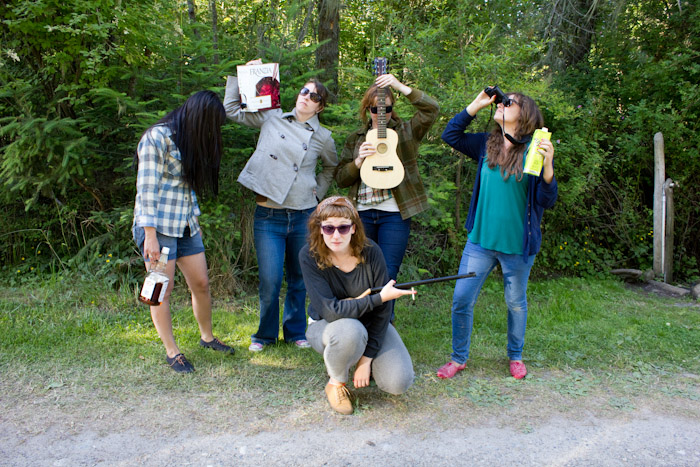 camping ladies.