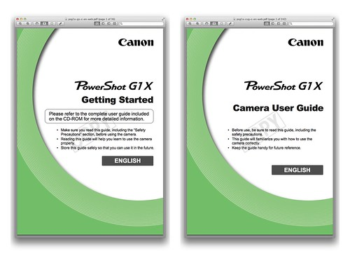 Canon G1 X Manual