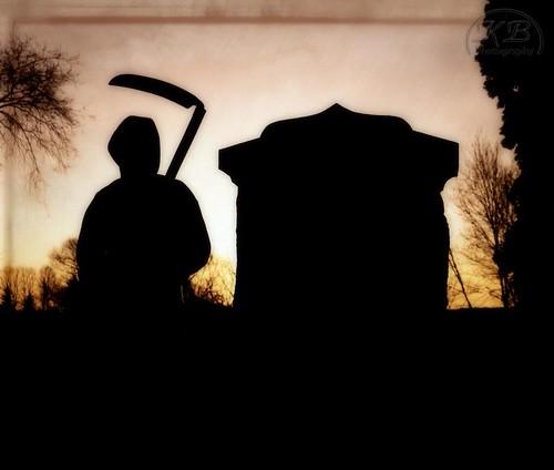 morning graveyard silhouette stone sunrise early flickr tombstone grimreaper burialground cementery facebook scythe