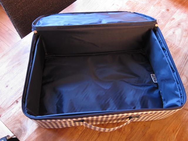Inside valise