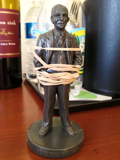 henry ford, rubber band holder