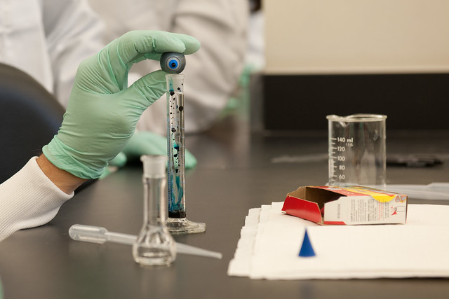 test tube forensic analysis