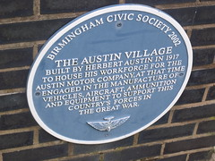 Photo of Herbert Austin and The Austin Village blue plaque