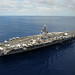 USS Dwight D. Eisenhower is underway in the Atlantic Ocean.