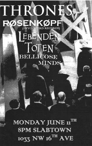 6/11/12 Thrones/Rosenkopf/LebendenToten/BellicoseMinds