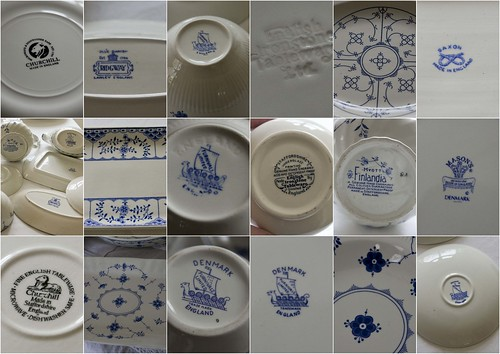 Blue crockery backstamps