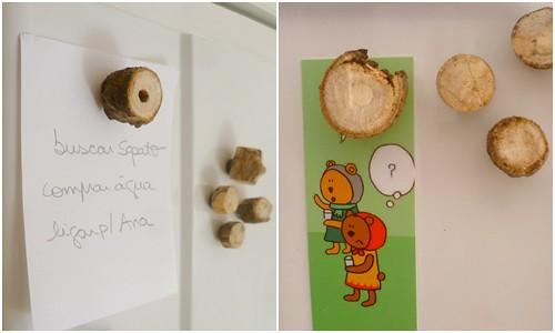 Ímãs de madeira