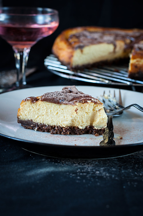 Mango Cheesecake with Chocolate + Ginger