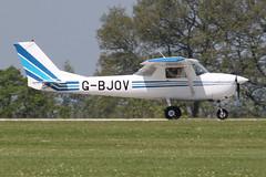G-BJOV - 1970 Reims built Cessna 150K, arriving at AeroExpo 2012