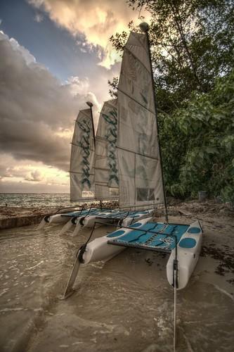 sunset sea holiday clouds jamaica catamaran ochorios