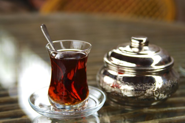 Enjoy a cup of çay, or Turkish tea, after your Turkish bath