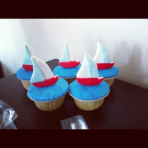 Yelkenli dogumgunu cupcakeleri by l'atelier de ronitte