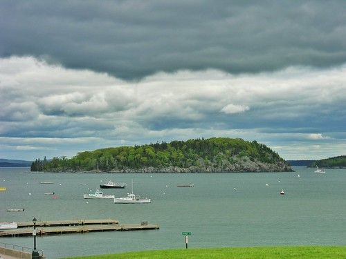 Bar Island under clouds
