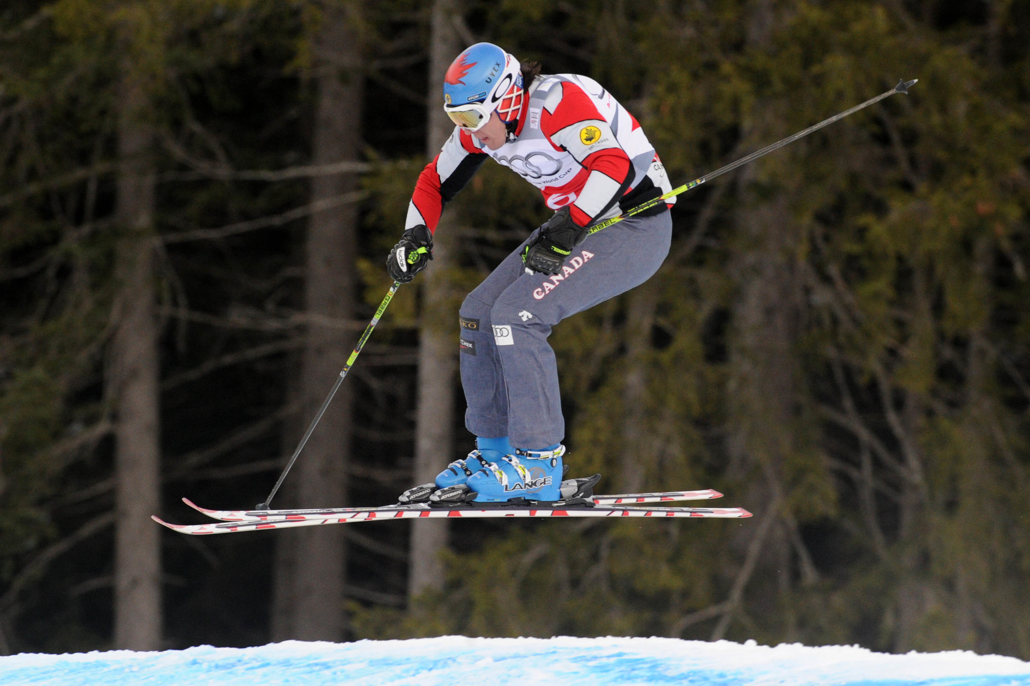 Tristan Tafel in a qualifying run at the ski cross World Cup in Innichen/San Candido, Italy.