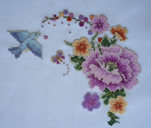 Japanese Gold cross stitch / Пионы - вышивка крестом