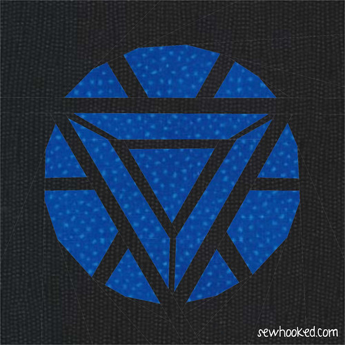 Paper Pieced Iron Man Arc Reactor