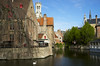 Bruges and swan by Bob Gundersen