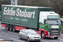 Volvo FH 6x2 Tractor with 3 Axle Curtainside Trailer - KX63 MZL - H4939 - Sofia Taylor - Eddie Stobart - M1 J10 Luton - Steven Gray - IMG_4681