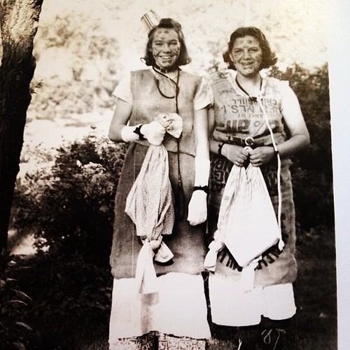 "This gives ""spirit day"" a whole new dimension! My mom and her sister, circa 1940. #familypictures"