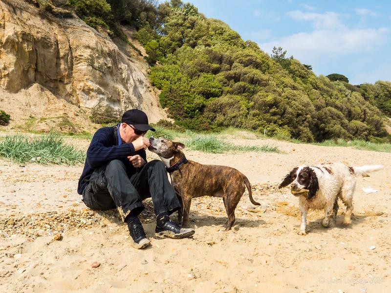 Chris with Jez & Max