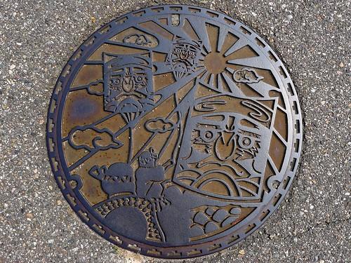 Daimon Toyama, manhole cover (富山県大門町のマンホール)
