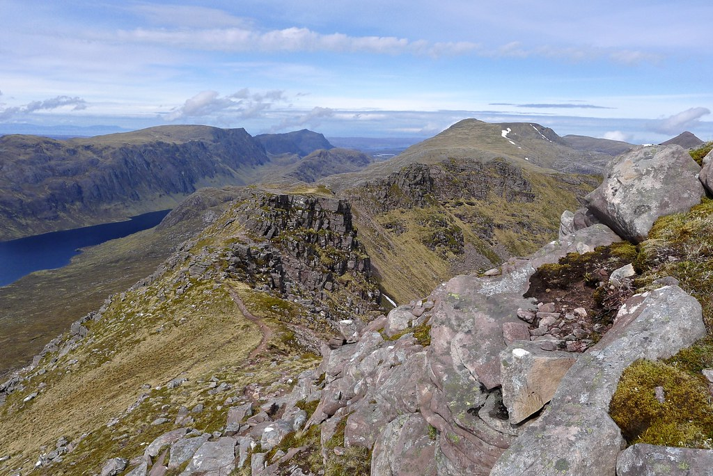 West ridge of Beinn Tarsuinn