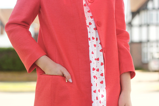 Red Zara Zip Coat