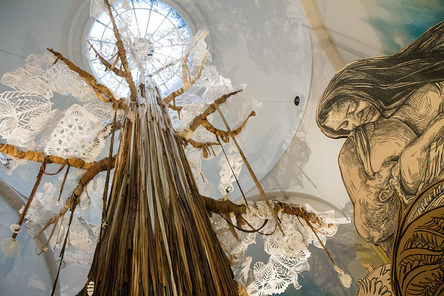 Swoon, Submerged Motherlands, Brooklyn Museum