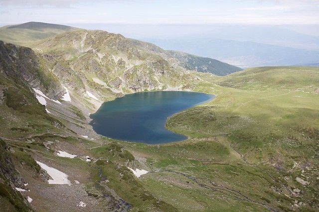 Lago Babreka ( el riñon ), Montañas Rila, península de los Balcanes, Bulgaria