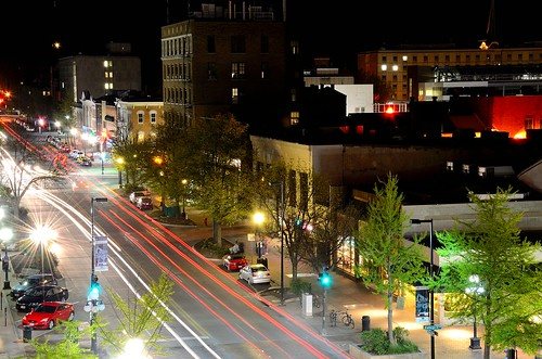 Iowa City Night Scape: S. Clinton Street