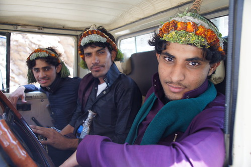 Not Easter bonnets but the Flower men of Tihama