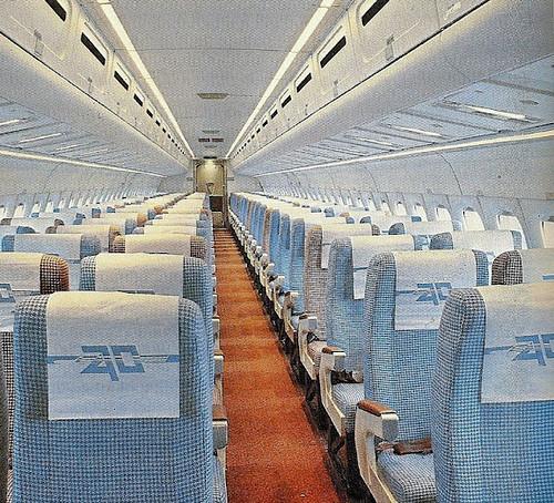 Interior DC-9 Aviaco Cabina de Pasaje