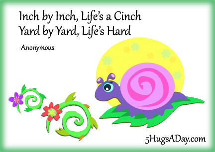 Inch by Inch, Life's a Cinch via @5hugsaday | 5HugsADay.com