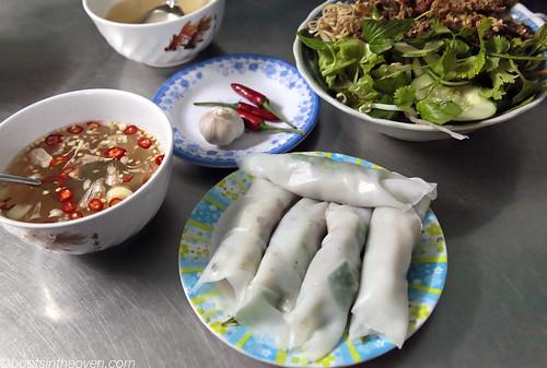 Bánh ướt thịt with Nước chấm