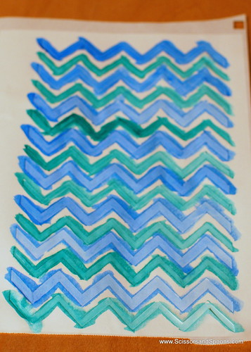 Creating Chevron Patterend Paper